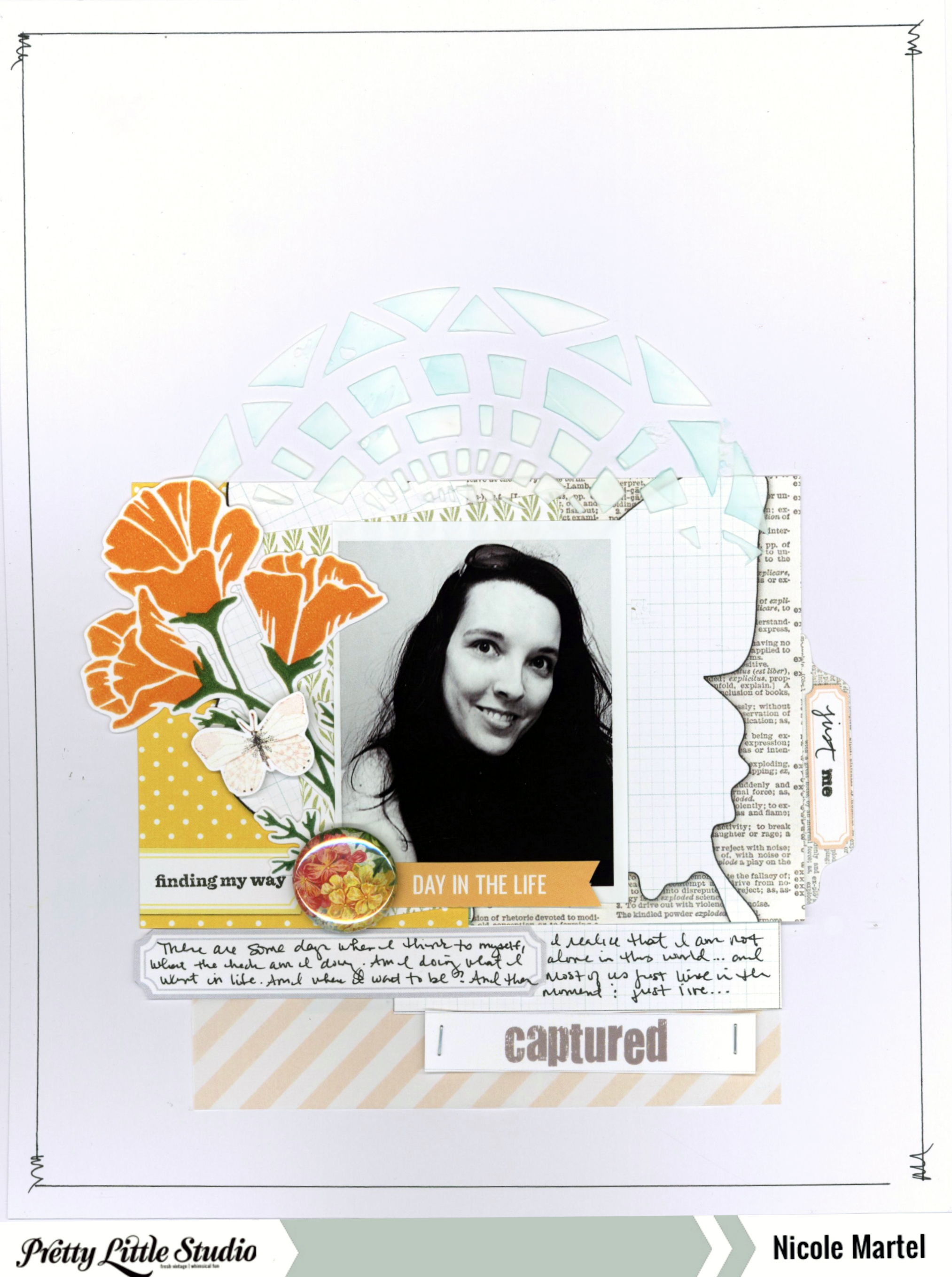 just me_Pretty Little Studio_Ali Edwards Story Kit_Faber Castell_layout