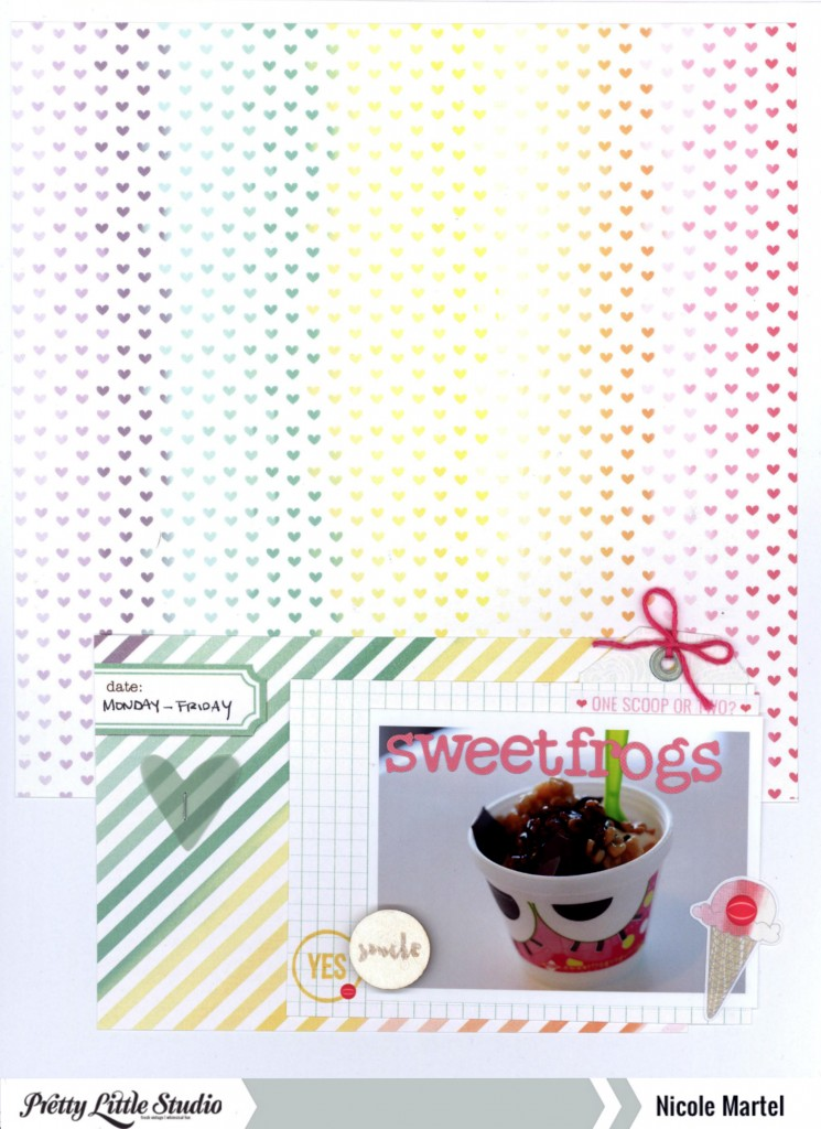 sweetfrogs_Pretty Little Studio_Nicole Martel_layout_ali edwards_Bella Blvd