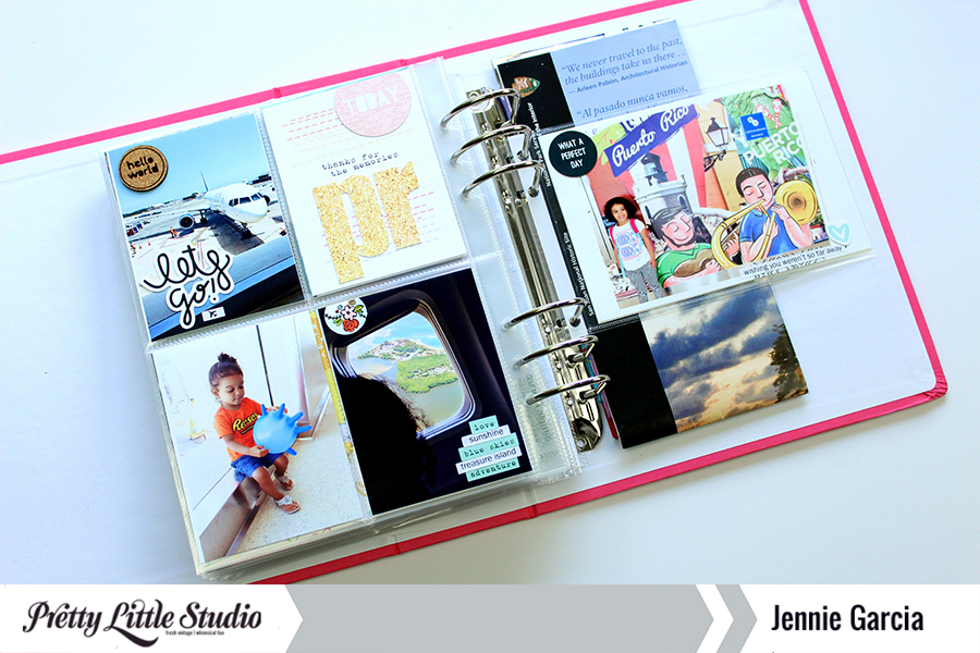 Travel Mini Album with the Beautiful Day Collection from Pretty Little Studio